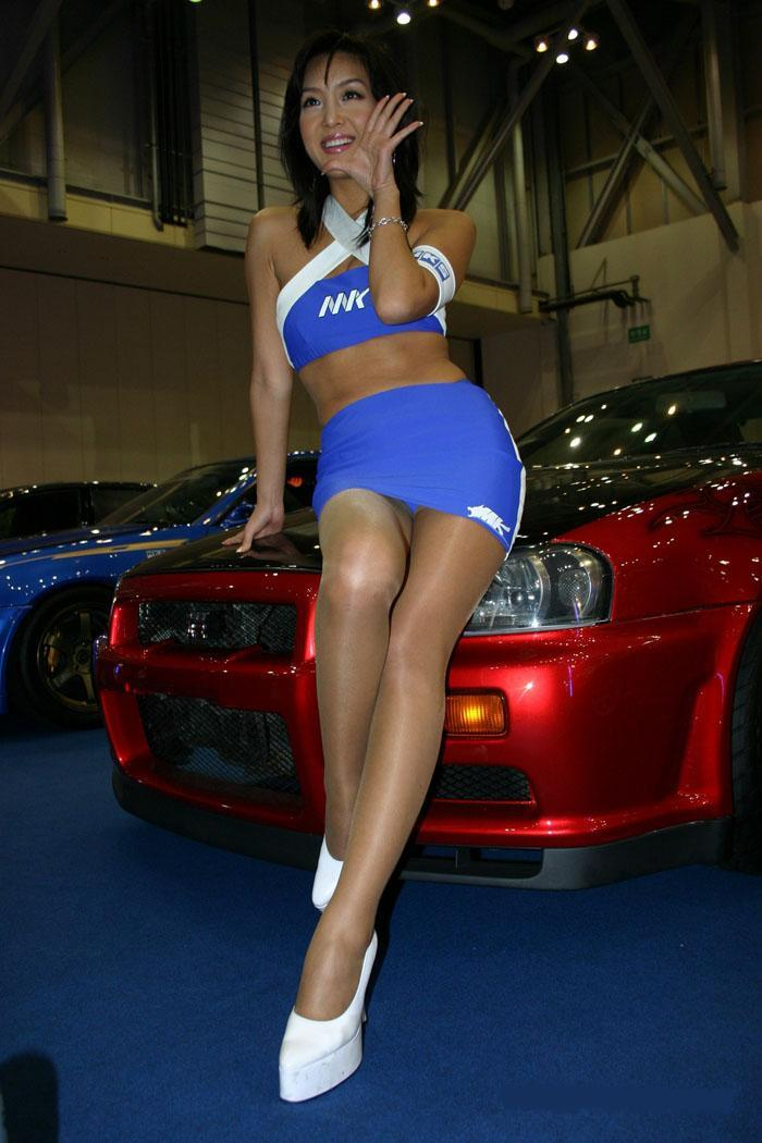 Race queen upskirt
